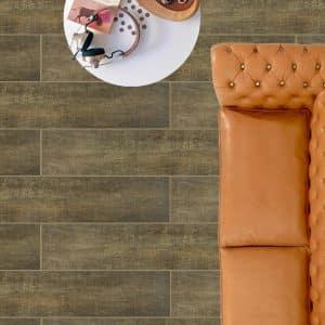 Crown Cherry timber look tiles