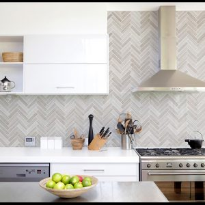 Montage Soho Concrete Herringbone tiles