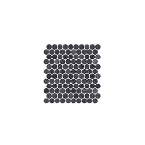 Montage Dime Nero round tiles
