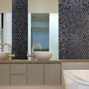 Montage Sirocco Blackwood Hexagon tiles