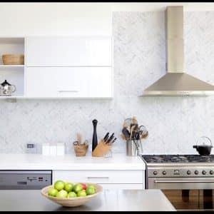 Montage Soho Ice Herringbone tiles