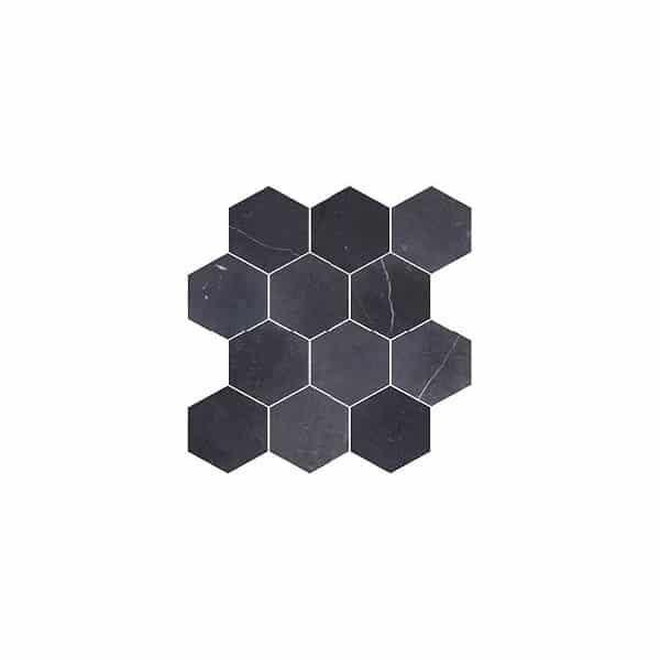 Montage Como Nero mosaic tiles