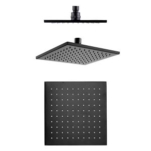 Modena Black Rain Shower Head