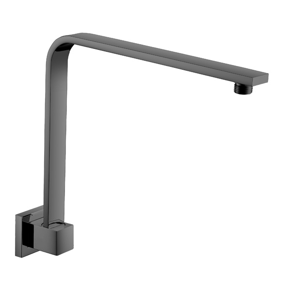 Square Fixed Gooseneck Arm Matte Black