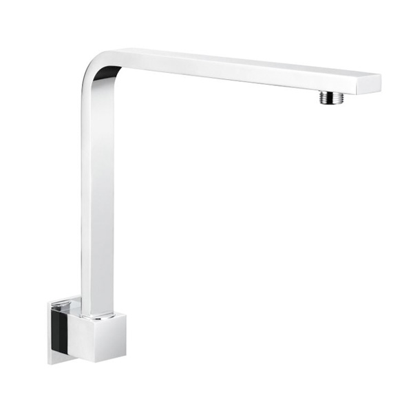 Square Fixed Gooseneck Arm Chrome