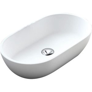 Nero solid surface basin