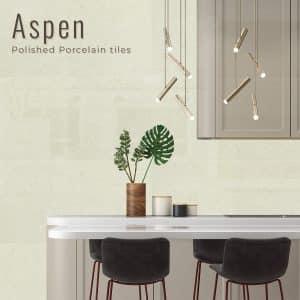 Aspen White Polished Porcelain tiles