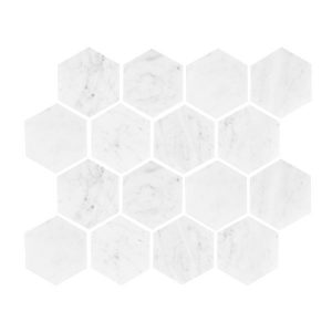 Carrara Hexagon Honed Mosaic sheet
