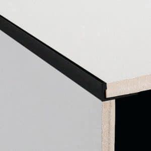 DTA trim Aluminium Angle Brush Black