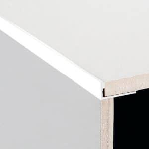DTA Trim Aluminium Angle Gloss White
