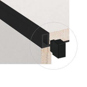 DTA Trim Alum Contempo Corner Brush Black