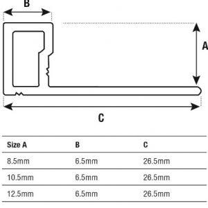 DTA TRim Alum Contempo Edge spec sheet