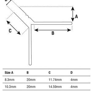 DTA Trim Aluminium Y Angle Spec sheet