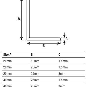 DTA Trim Aluminium Angle Specifications