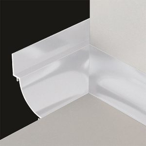 DTA Cove Corner Trim Internal Matte Silver