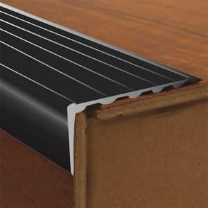 DTA Trim Aluminium Stair Nosing long Riser Black