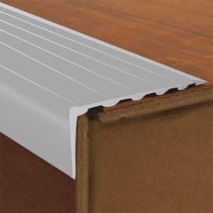 DTA Trim Aluminium Stair Nosing Long Riser Matte Silver