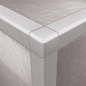 DTA Trim Corner Piece Square Edge Bright Silver