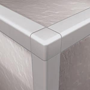 DTA Trim Corner Piece Square Edge Bright Silver