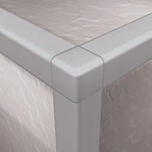 DTA Trim Corner Piece Square Edge Matte Silver