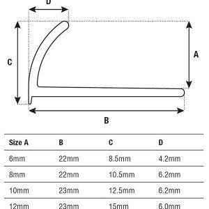DTA Trim Round Edge Spec Sheet