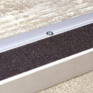 DTA Trim Stair Tread Matte Silver with black anti-slip