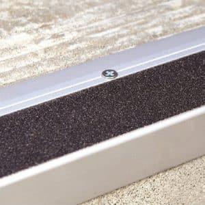 DTA Trim Stair Tread Matte Silver with black anti-slip