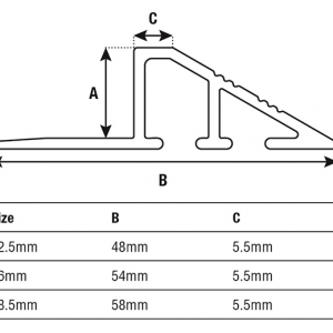 DTA Trim Transition Edge 8-10mm Specifications