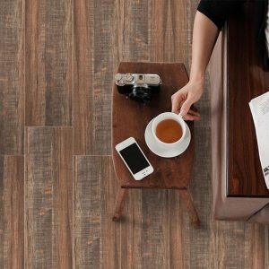 Hampton Cherry timber look tiles