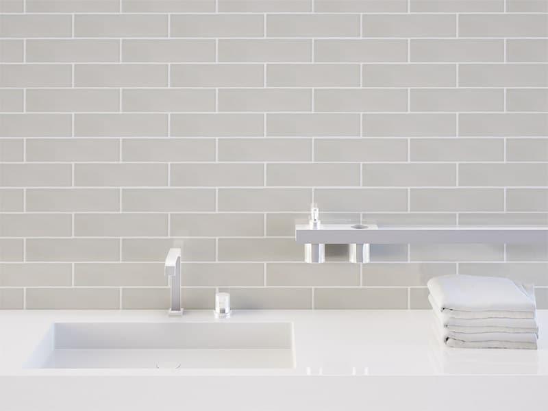 Chateau Light Grey Internal Gloss Wall Tiles 75x300