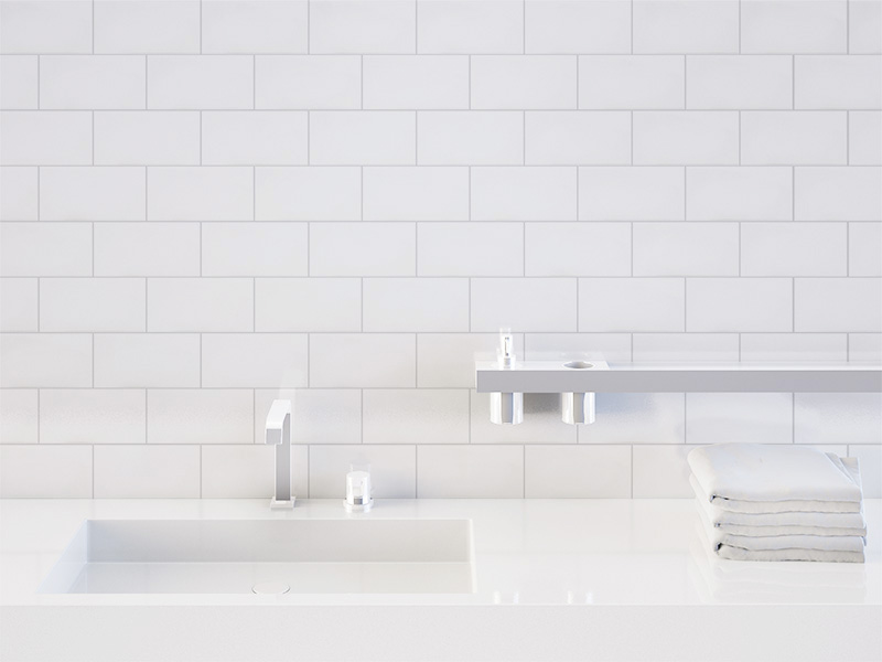 Subway Pressed Edge White Wall Tiles