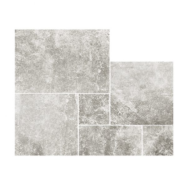 French Pattern Limestone Lunar Grey