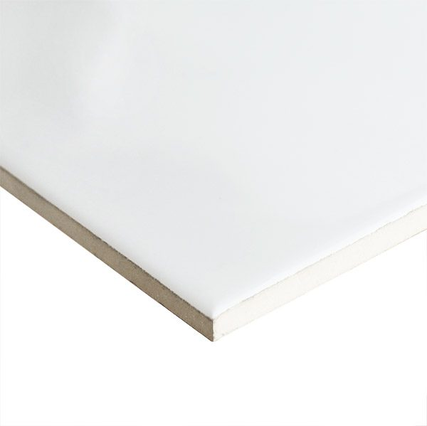 White Gloss Ripple Pressed Edge Wall tiles