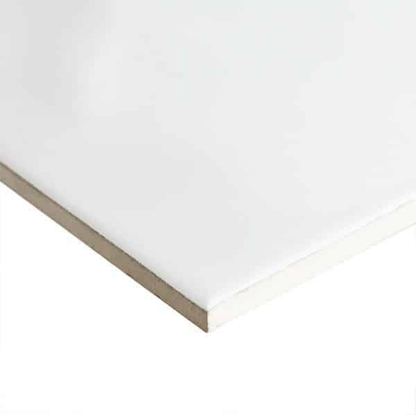 White Gloss Ripple Pressed Edge Wall tiles