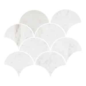 Carrara Fans Mosaic tiles