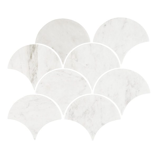 Carrara Fans Mosaic tiles