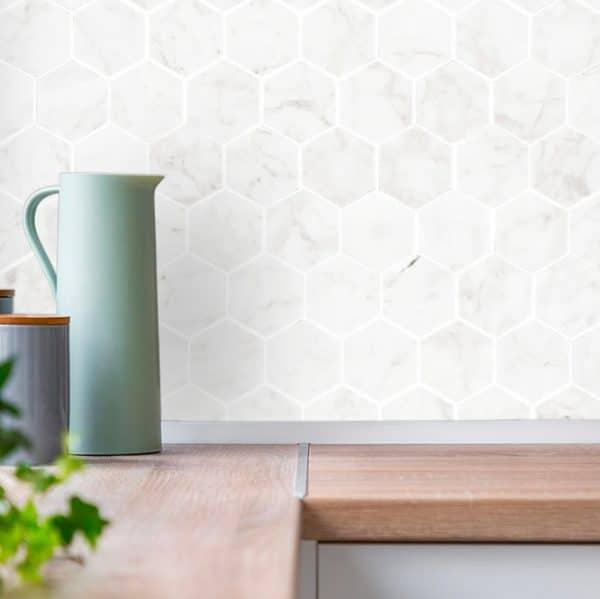 Carrara Hexagon Mosaic sheet