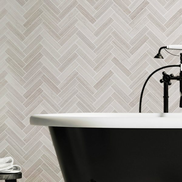Grey Wood Herringbone tile sheets