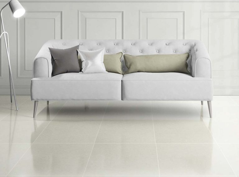 Aspen White Polished Floor tiles