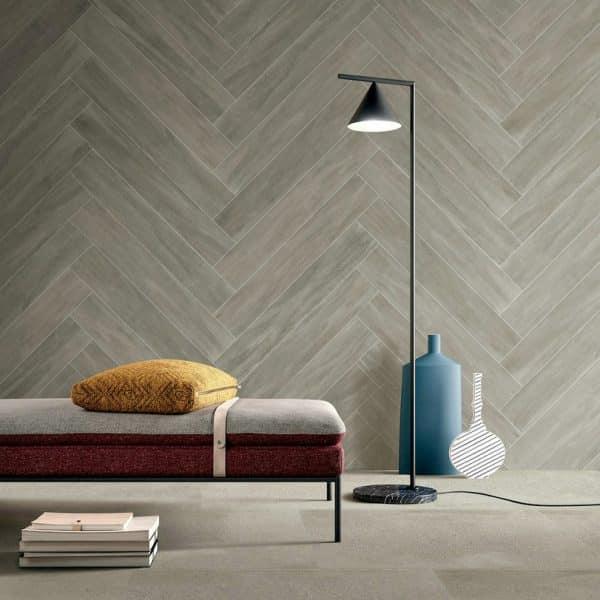 Ever Light Grey timber look tiles