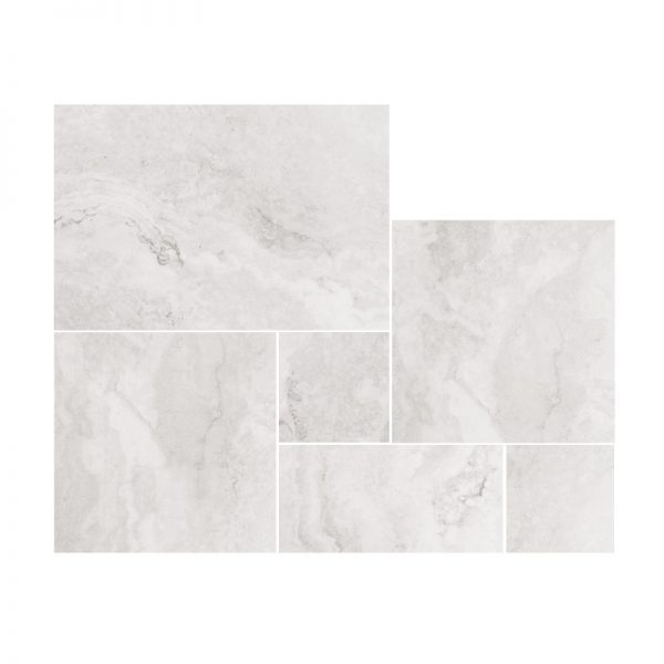 Sicily Stone Light Grey Travertine French Pattern External tiles