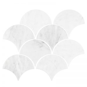 Carrara Marble Large Fans tiles sheet