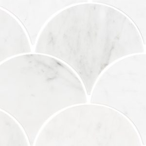 Carrara Marble Large Fans tiles sheet