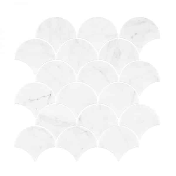 Carrara Marble Small Fans Mosaic tiles Sheet