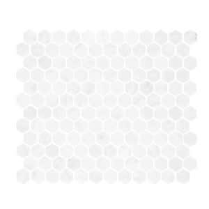 Carrara Marble Small Hexagon Mosaic tiles sheet