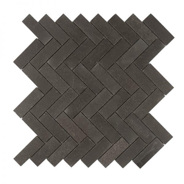 Basalt Marble Herringbone Mosaic tiles
