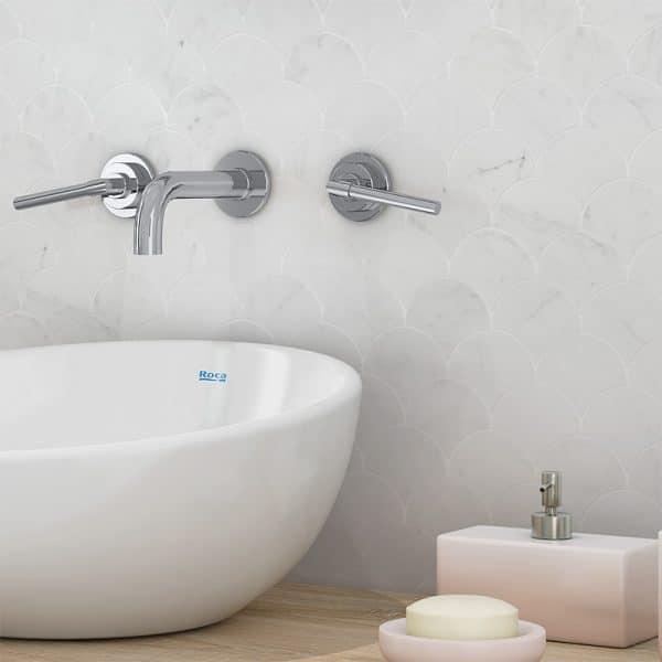 Carrara Marble Fans Small Mosaic sheets