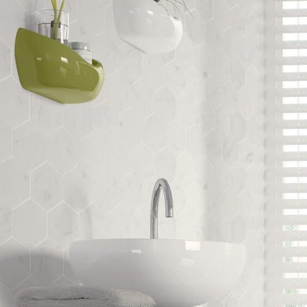 Carrara Marble Hexagon tiles