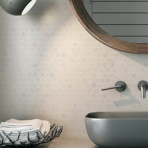 Carrara Marble Hexagon tiles