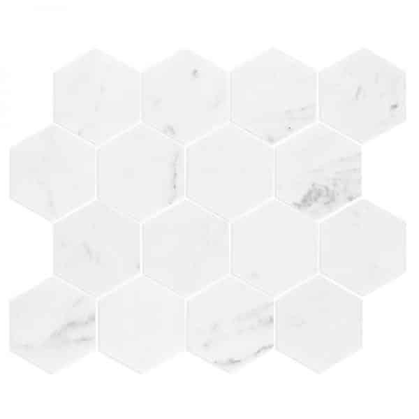 Carrara Marble Hexagon Mosaic tiles